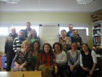 Agnieszka Wieczorkowska and participants of English Conversation Class - Ballymun